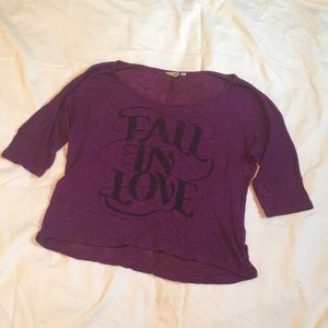 Mudd Small Purple Half Sleeve Crop Top